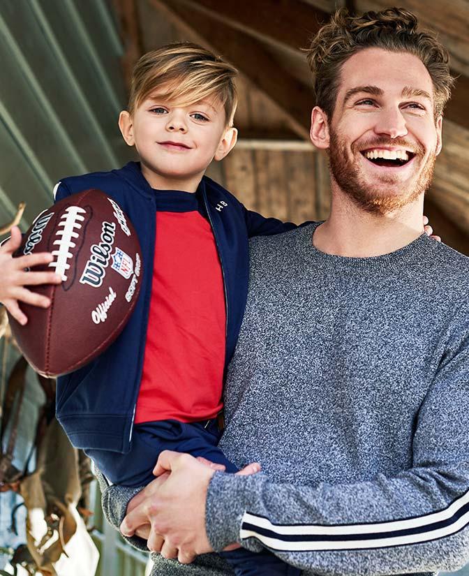 Kwaliteitsvolle trui voor heren met sporty color block details, helemaal Hampton Bays!