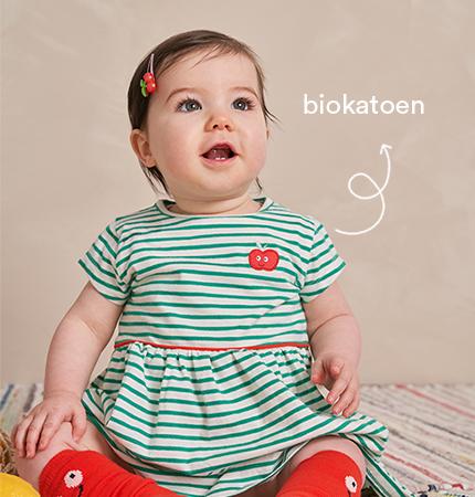 biokatoenen kleding voor baby's