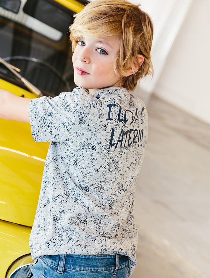 Collectie jongens: een fris hemdje met een denim voor een comfy feel good look!