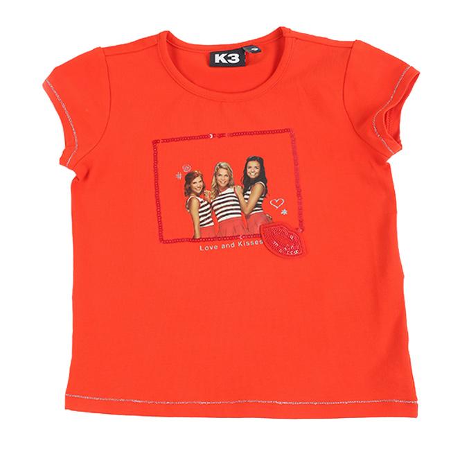 T-shirt met fotoprint in rood, K3