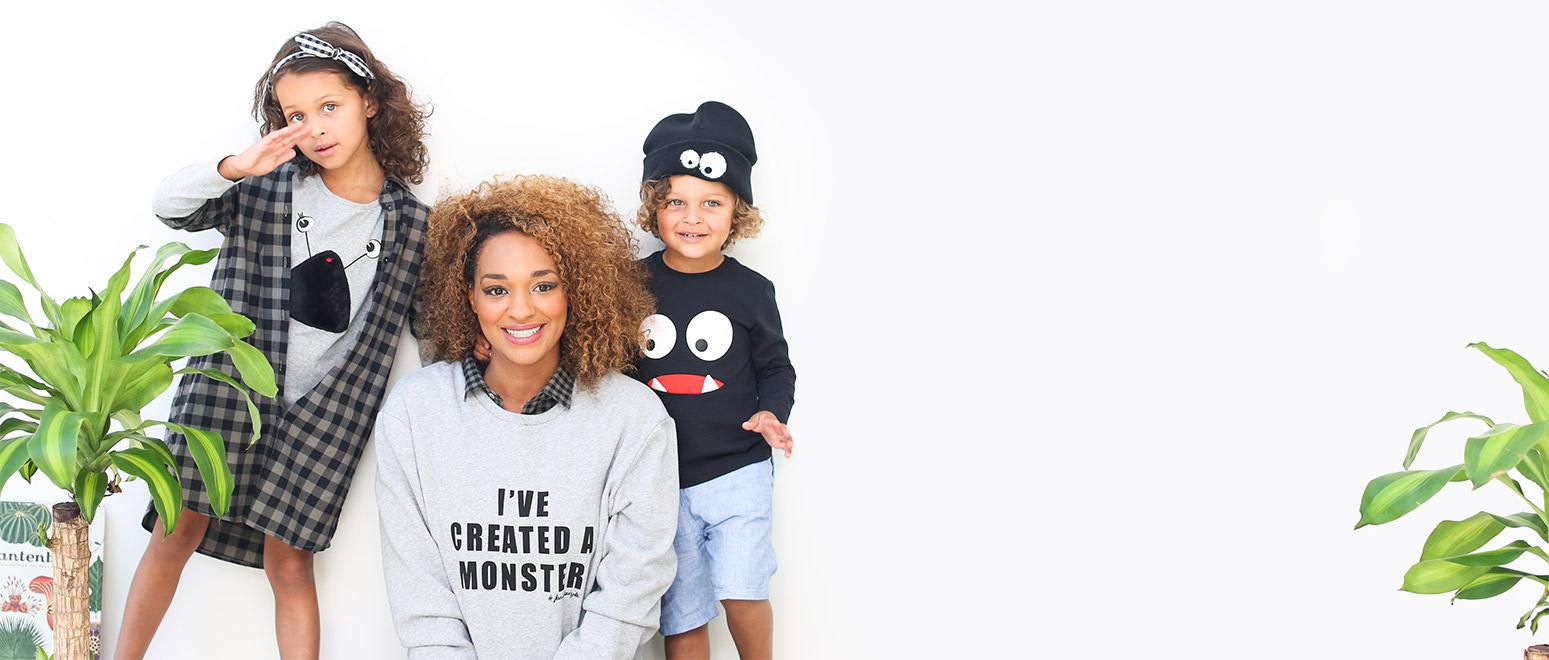 Matching outfits voor kleine en grote monsters! #familystoriesjbc