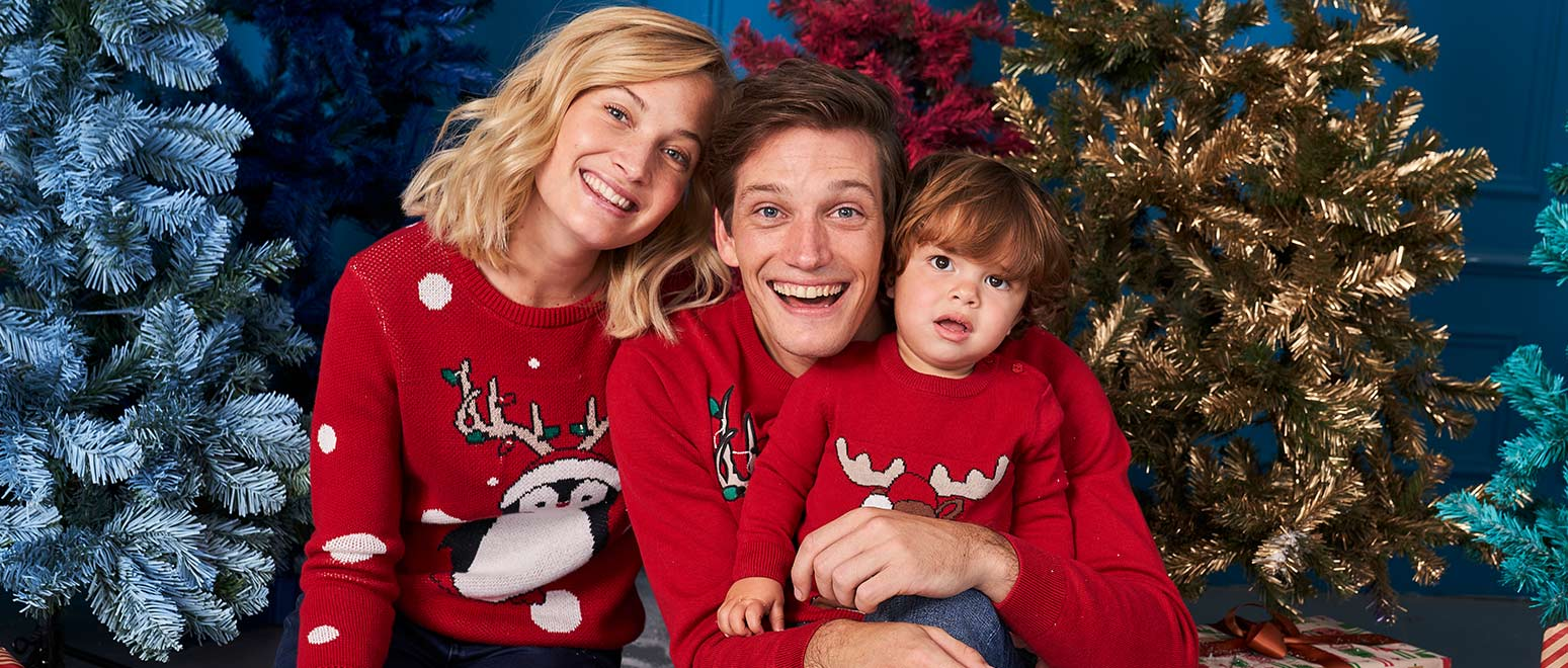 Kersttrui Gezin.Familie Kerstoutfits Jbc Belgie