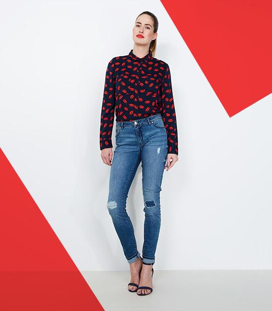 Jeans voor dames.