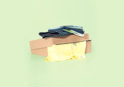 e ontvangt je bestelling thuis vanaf nu in een superleuke gerecycleerde kartonnen doos