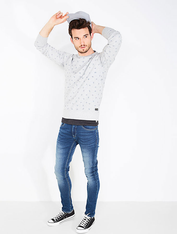 Skinny jeans voor heren: een strakke jeans die aanvoelt als een tweede huid.