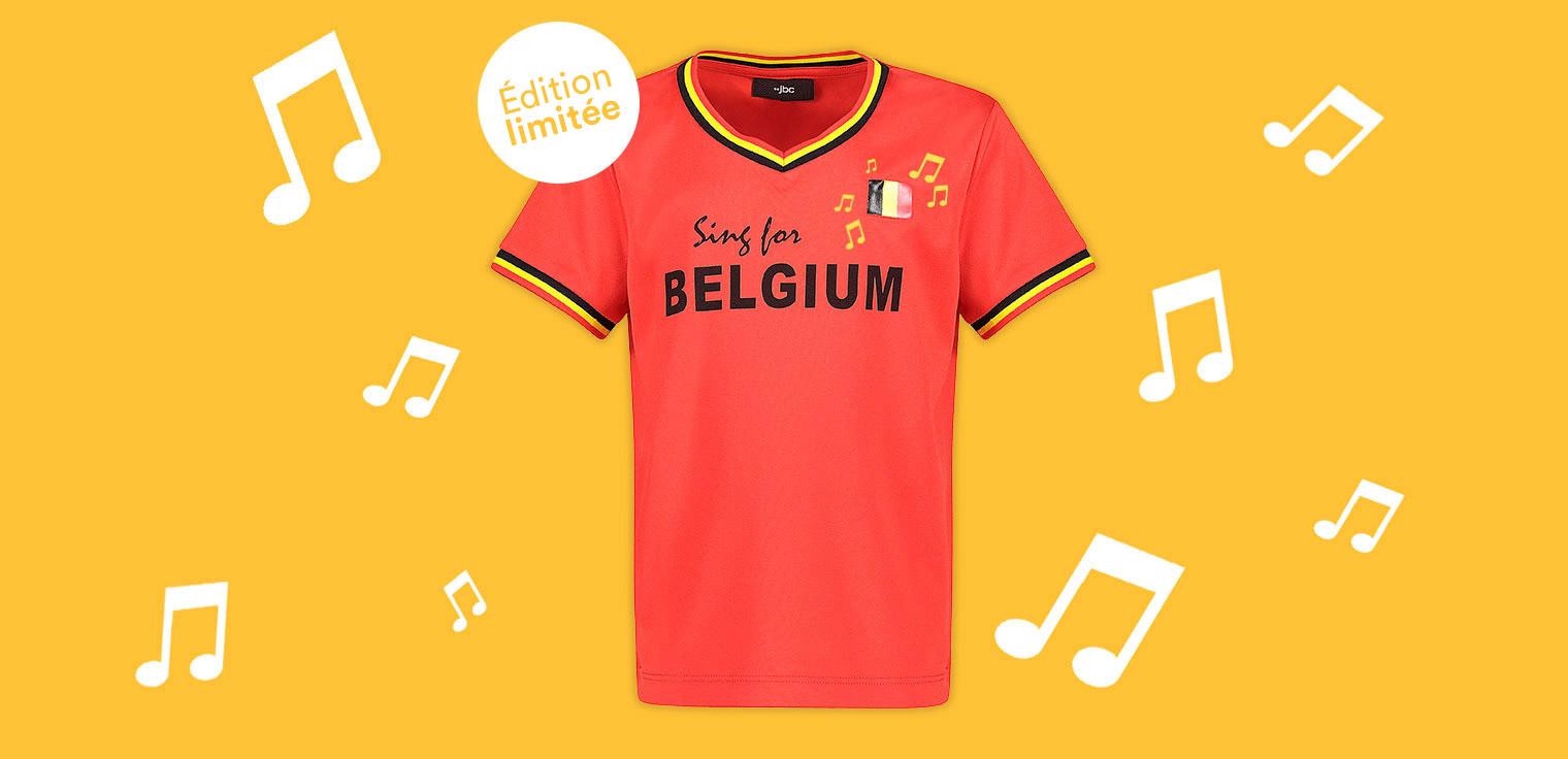 Recevez du 28/05 jusqu'au 3/06 inclus un maillot de foot chantant gratuit par tranche d'achat de 50 € dans toute la collection JBC.