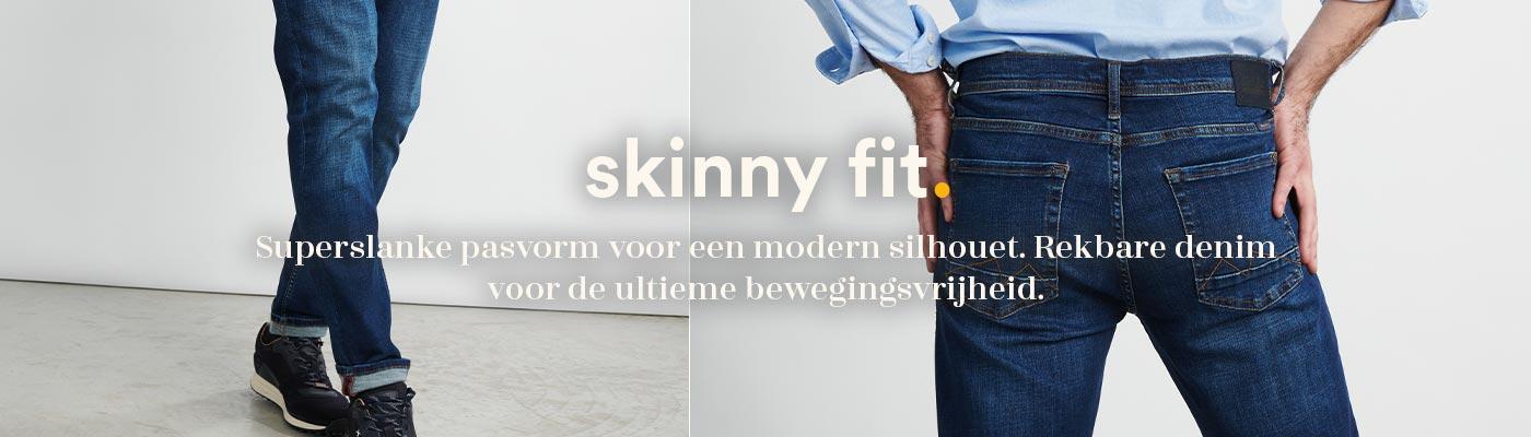 Skinny denim fit