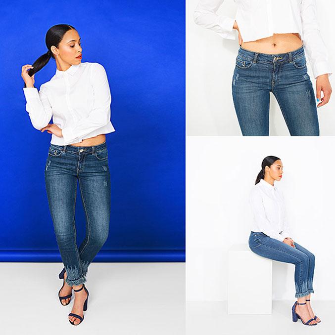 Le jeans slim: grâce à ses jambes près du corps, il crée une silhouette féminine.