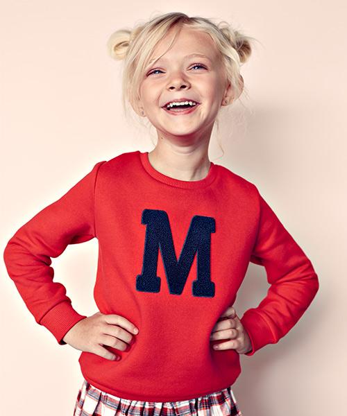 Lettersweater kids Rood