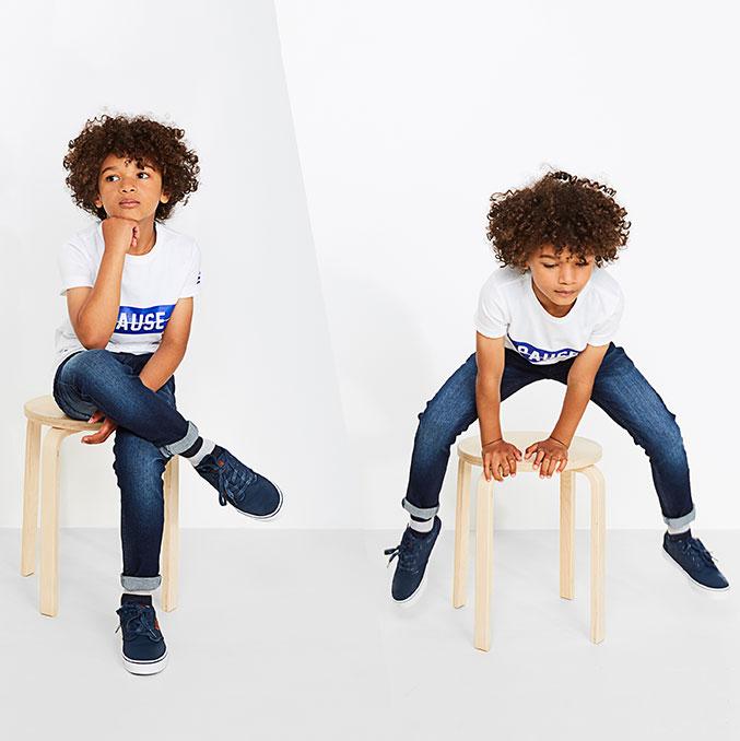 Skinny fit voor jongens: de skinny is altijd even stylish en zit door zijn portie stretch ook steeds comfortabel.