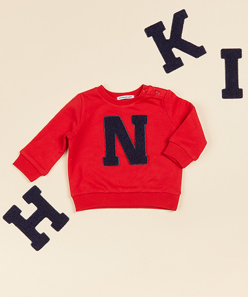 Lettersweater baby Rood