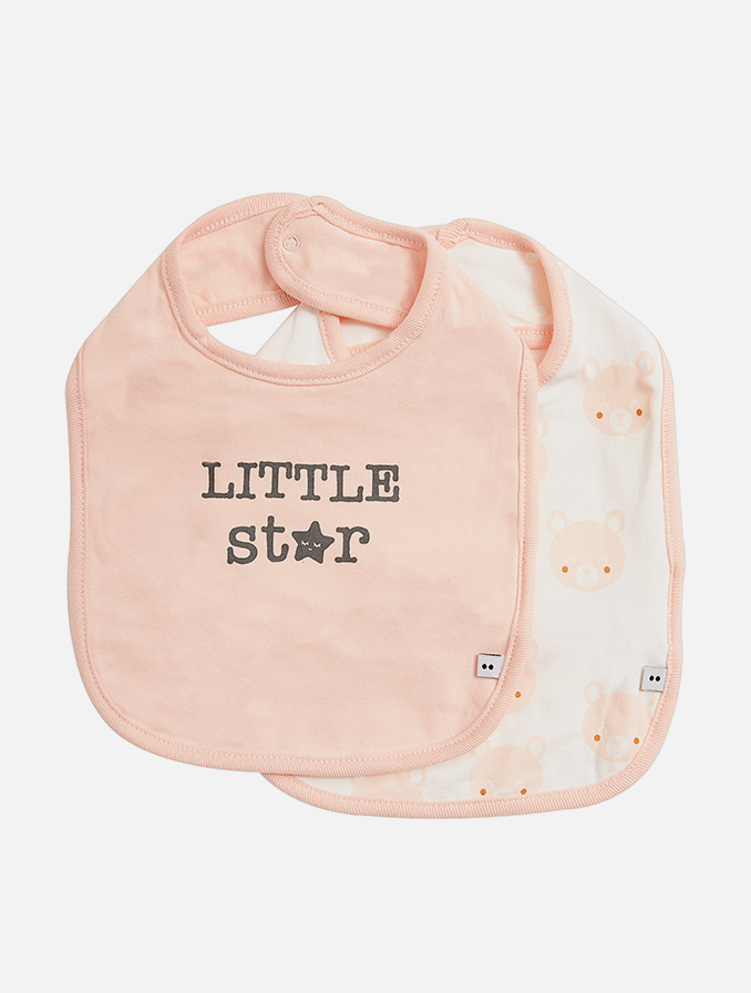Slabbetjes in verschillende kleuren en leuke prints voor babymeisjes en babyjongens.