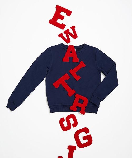 Lettersweater tiener Blauw