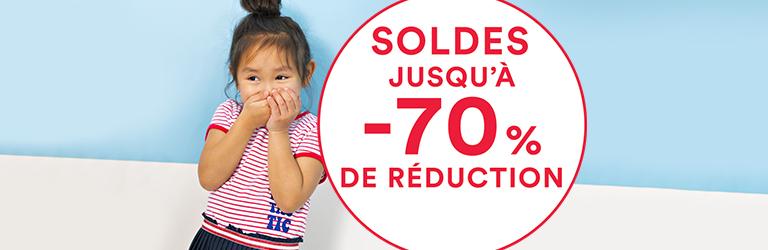 Soldes : des réductions jusqu'à 70% !%