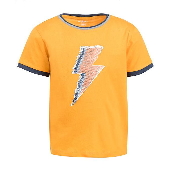 wipe T-shirt met bliksem in oranje