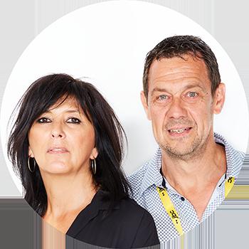 1a2ced2c121 Véronique & Patrick, shop managers van JBC Balen