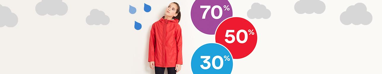 Regenweer kleding met kortingen tot 70%