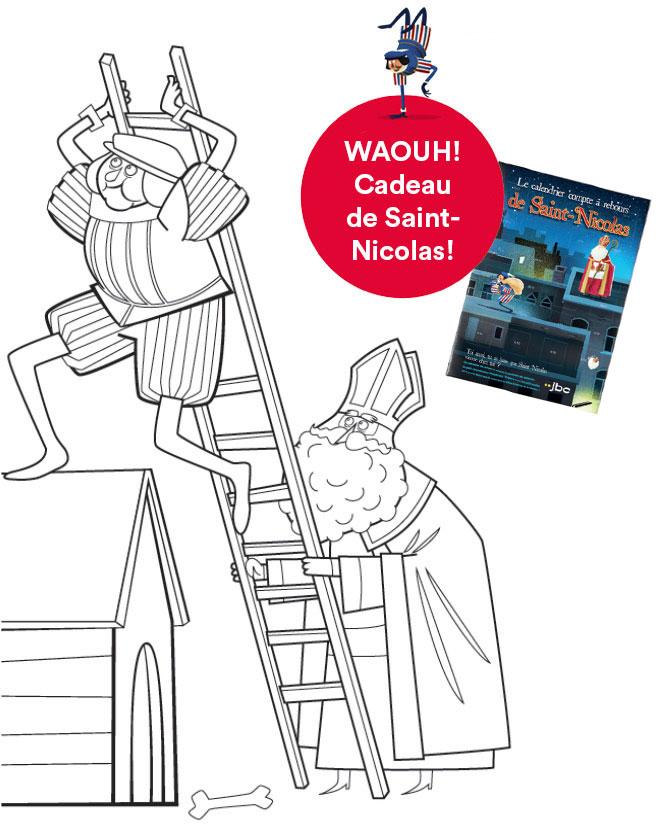 Découvrez ici dans quels magasins JBC Saint-Nicolas passera et téléchargez votre dessin pour lui offrir.