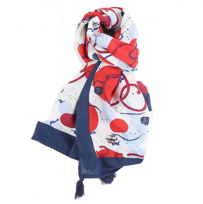 Sjaal met print Hampton Bays