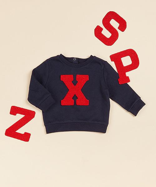 Lettersweater baby Blauw