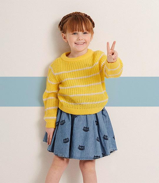 meisjes kleurrijke outfits