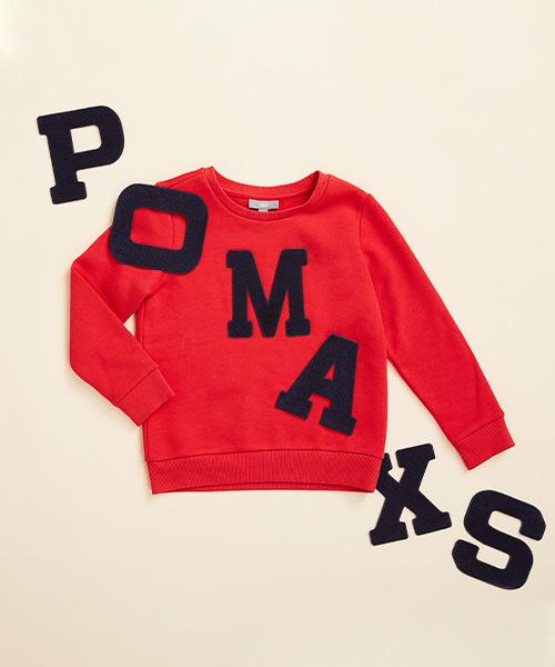 Lettersweater tiener Rood