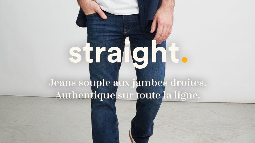 straight denim fit