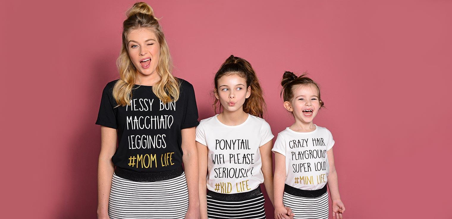 Les filles au pouvoir grâce aux tenues assorties.Suivez la tendance du twinning avec votre fille et découvrez nos nouvelles collections assorties.